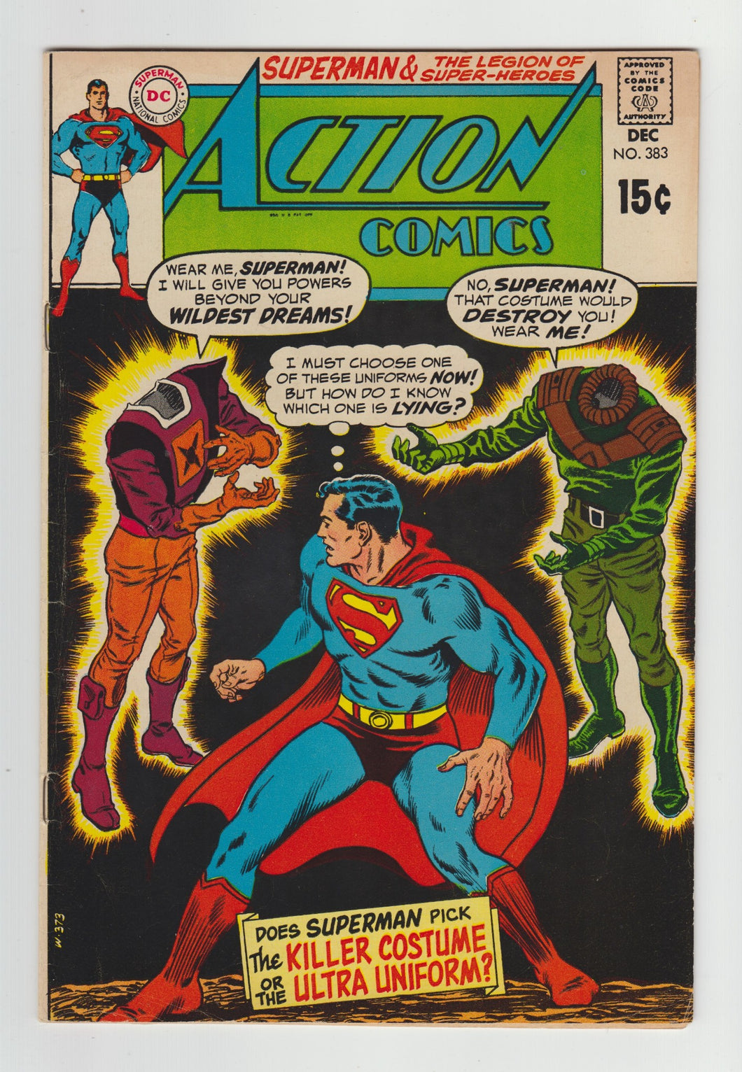 Action Comics (1938 DC Series) #383 in FN Shape
