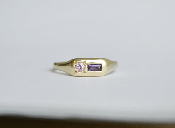 Purple Pill Ring