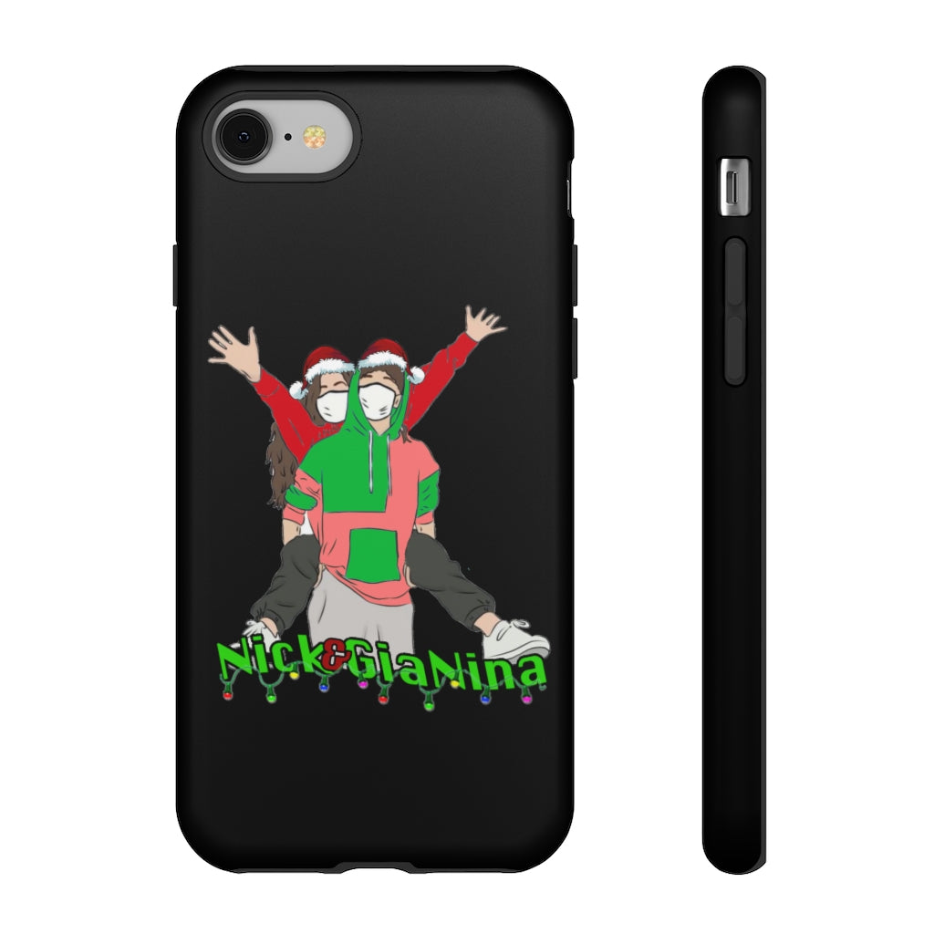 Nick & GiaNina Christmas Black Phone Case