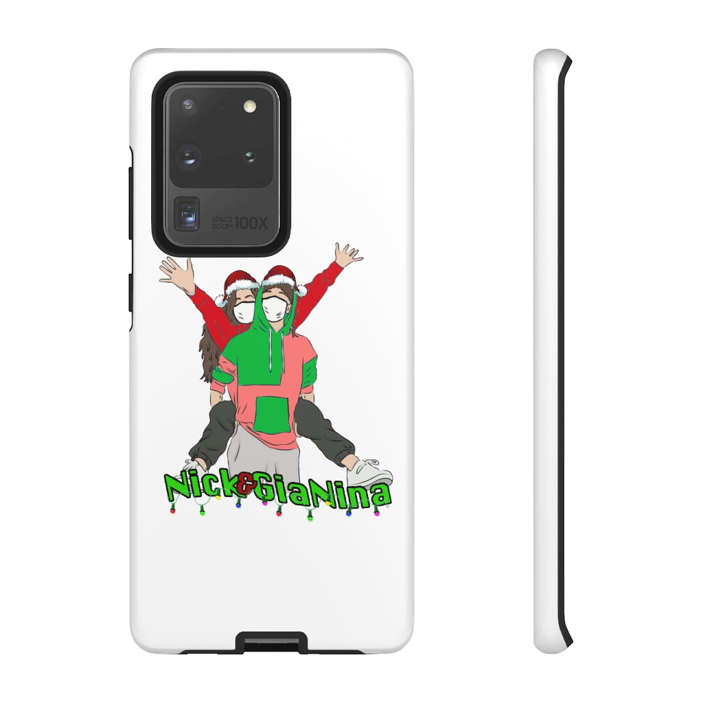 Nick & GiaNina Christmas White Phone Case