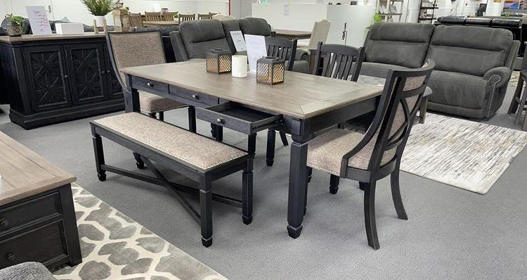 Tyler Dining 9 pce package-Bedding & Furniture - Browns Plains