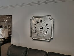 14368 Crestin Galvanized Wall Clock