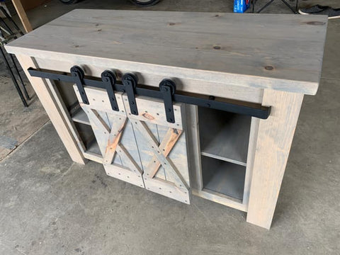 Barn-Door TV Stand