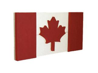 100 Wooden Canadian Flag