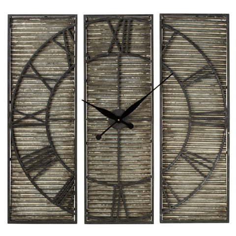 Galvanized Panel Wall Clock