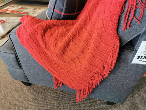 Florence Red Throw