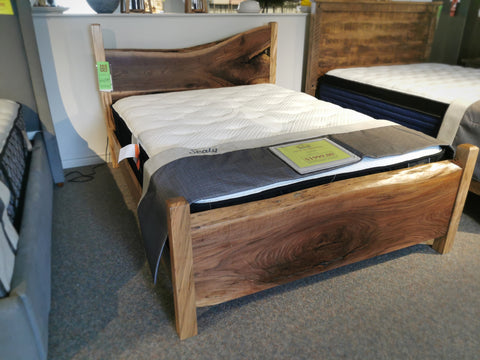 Burled Maple Queen Bed