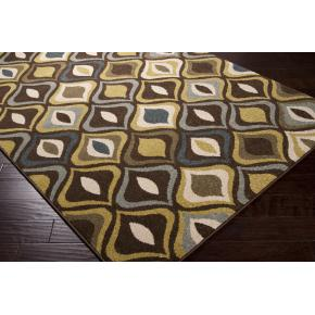 Area Rug Cats Eye Design 100% Polypropylene Machined