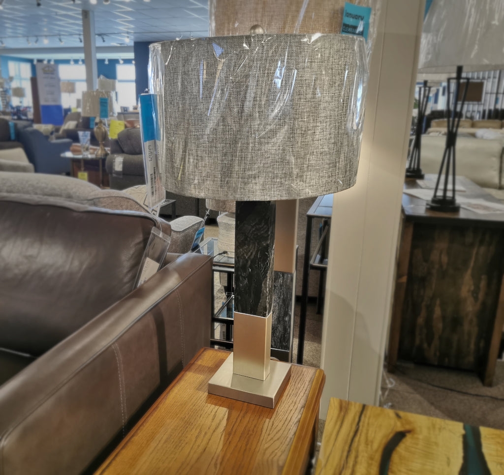 LL1391 Steel & Stone Table Lamp