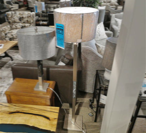 LL1392 Steel & Stone Floor Lamp