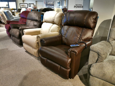 512 Pinnacle Power Leather Wall-A-Way Recliner