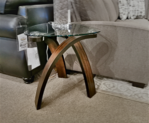 T 1396 Allure Glass End Table