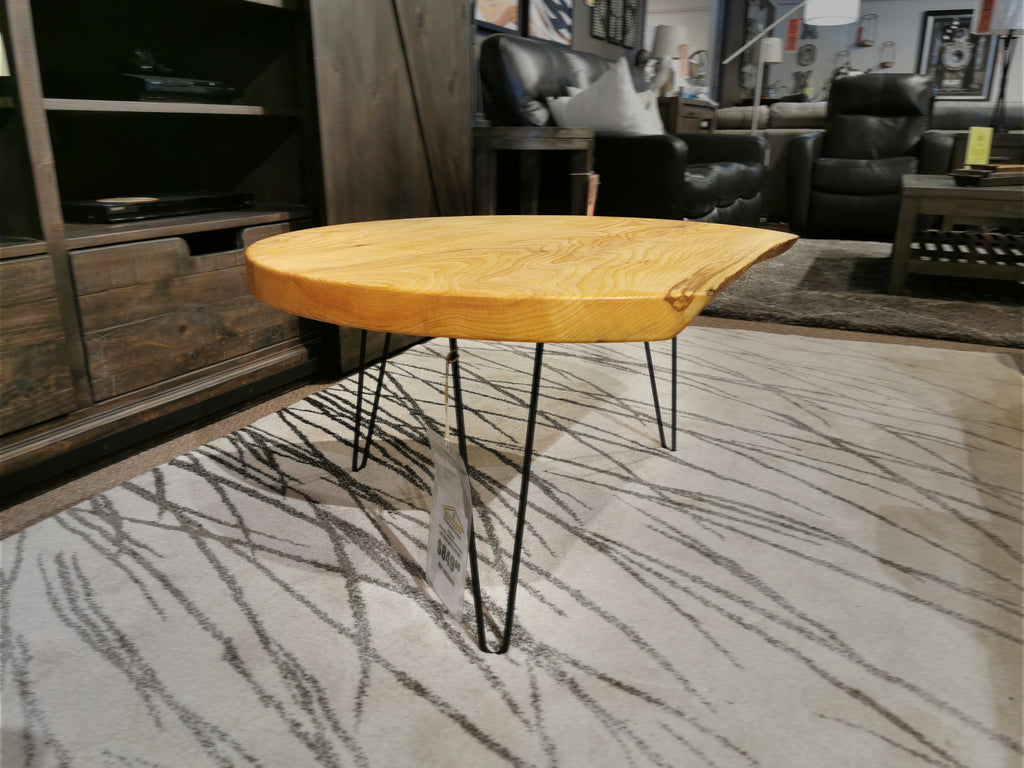 Ash Round Coffee Table with Cutout