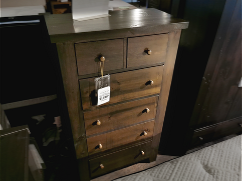 Pine 6 Drawer Chest