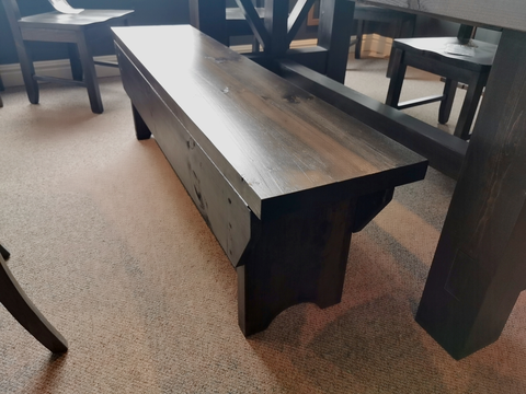 "'Rough Sawn' 60"" Lift-Lid Bench in Coffee Finish"