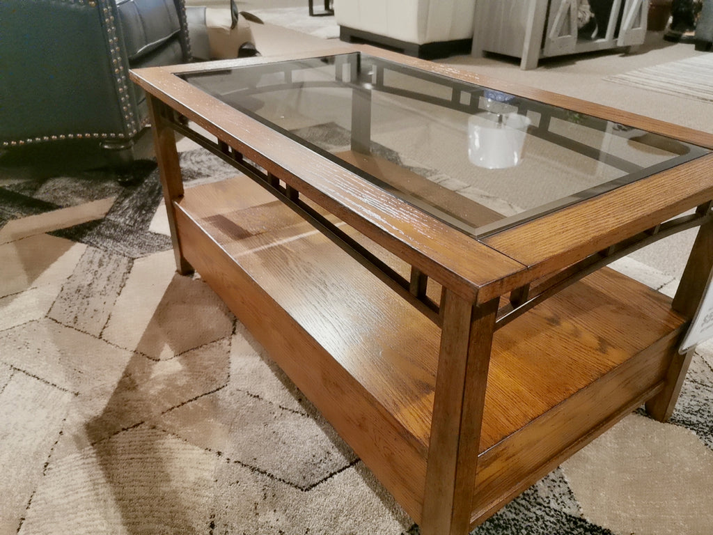 4013 Glass-top Cocktail Table