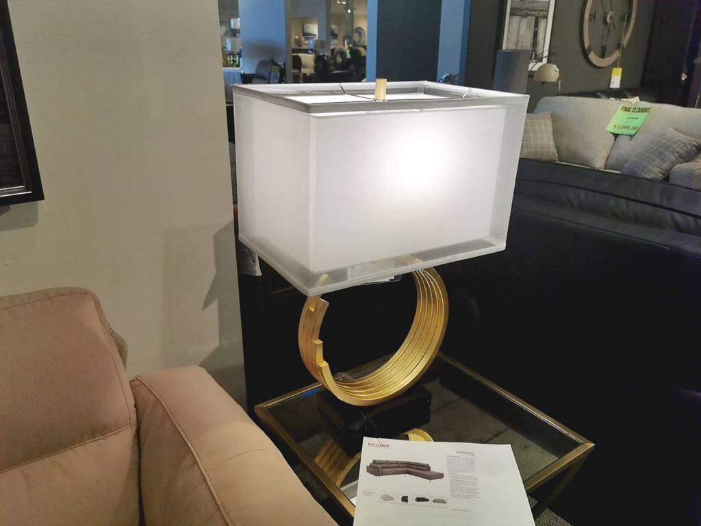 Riley Omega Circle Table Lamp