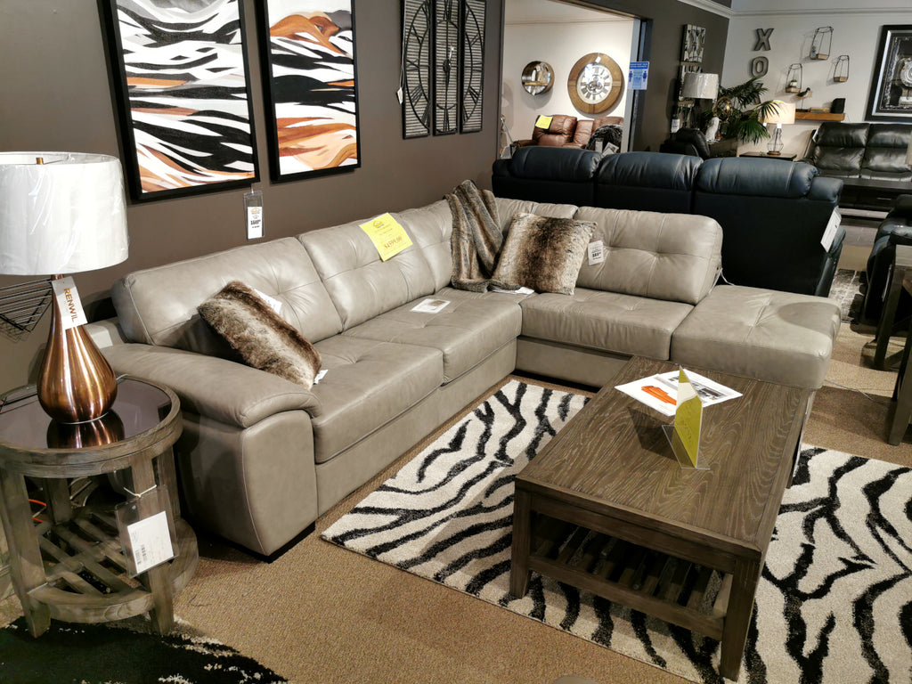 77627 Long Beach Chaise Sectional - ALL LEATHER