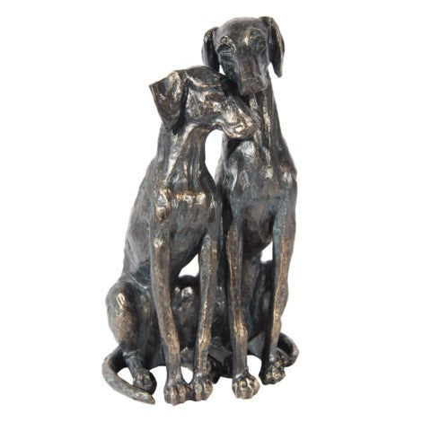 Antique Copper Dogs