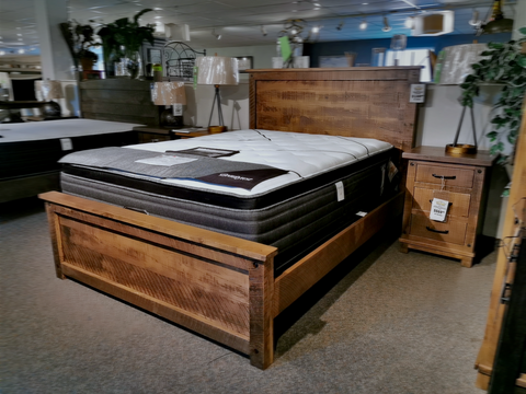 Adirondack Maple Platform Bed