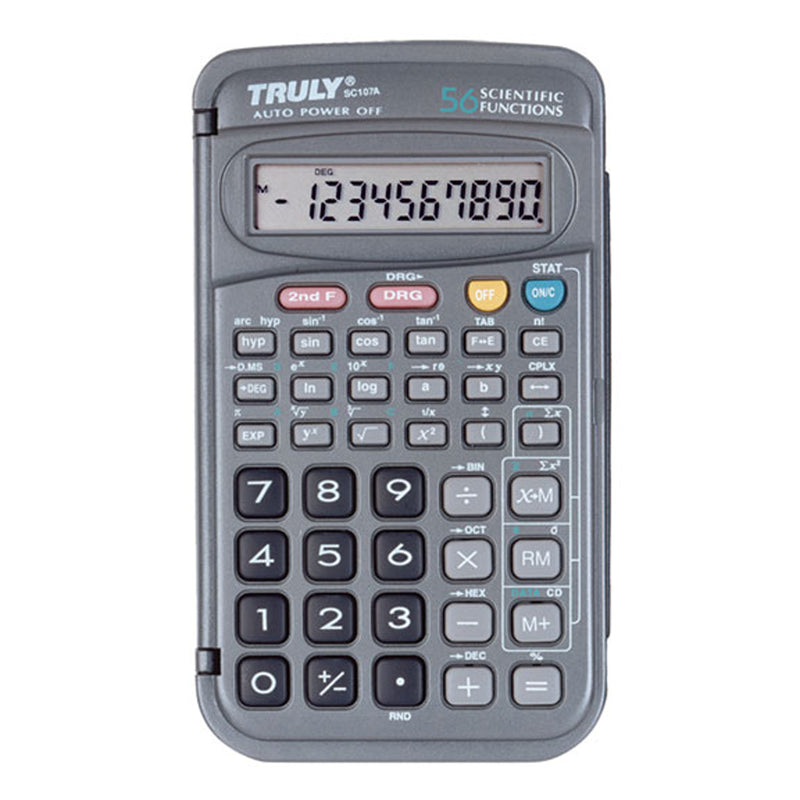Truly 107 - Scientific Calculator  2-Line Display / 240 Functions