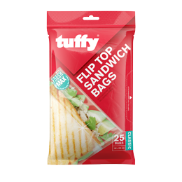 Tuffy Flip Top Sandwhich Bags - 180 x 200mm