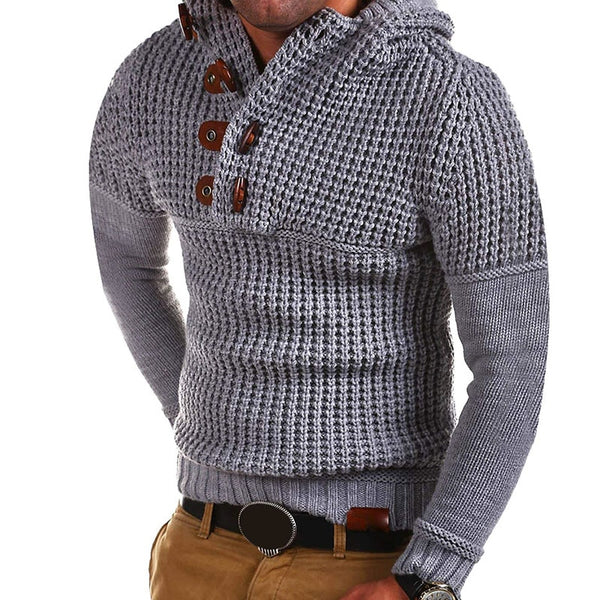 New Fashion Male Plus Size XXXL Winter Mens Knitted Casual Sweater Hooded Pullover Top Blouse Keep Warming Sweaters