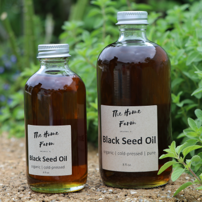 Organic black seed oil in two sizes