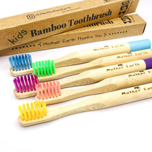 Load image into Gallery viewer, Bamboo toothbrushes five pack