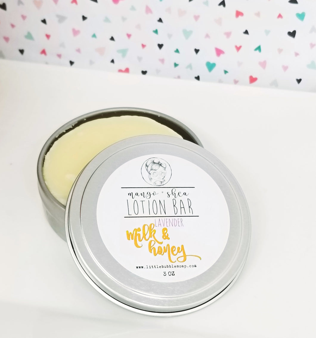 Natural lotion bar