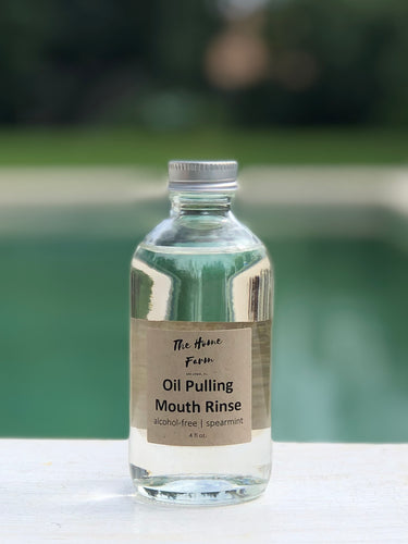 All natural oil pulling mouth rinse