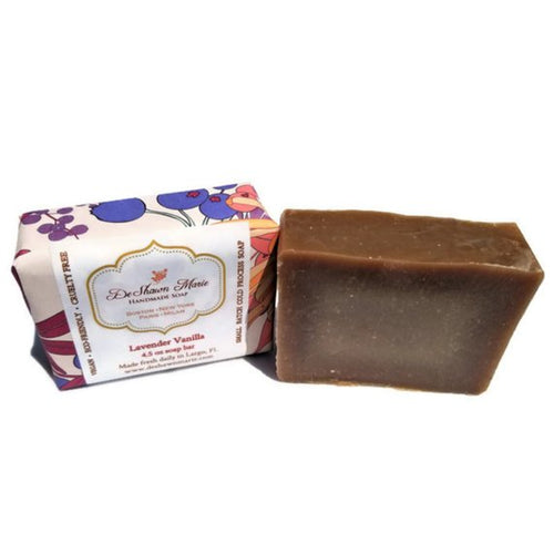 natural lavender and vanilla soap