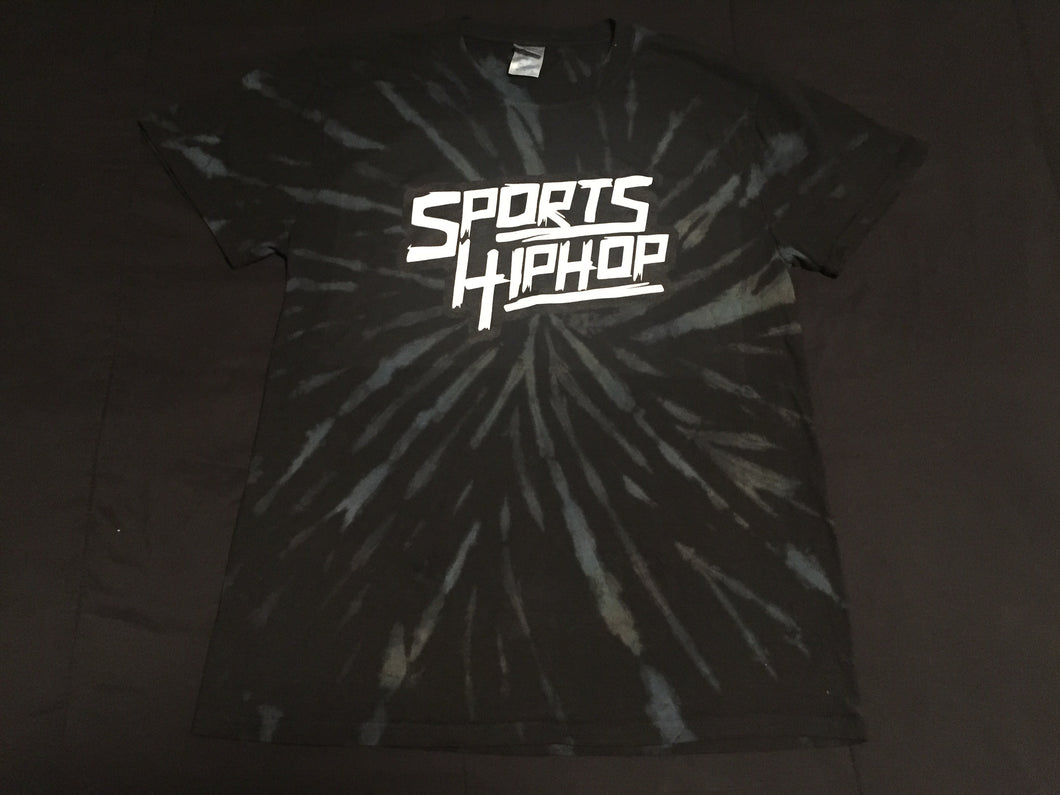 *LIMITED EDITION* SportsHiphop Tie-Dye Tee (Black Galaxy Spiral)
