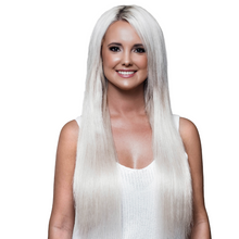 "Load image into Gallery viewer, 20"" Clip-In Platinum Blonde"