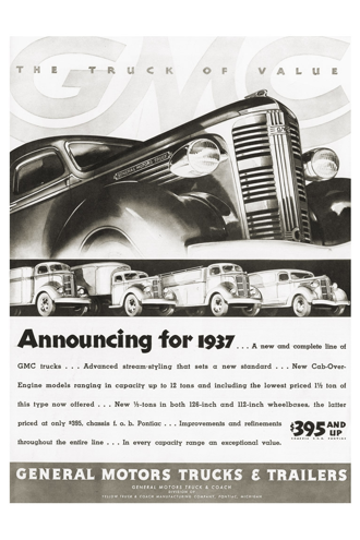 Vintage Poster-GMC B and W
