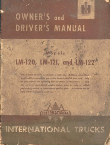 International Truck Owner's and Driver's Manual for LM Series