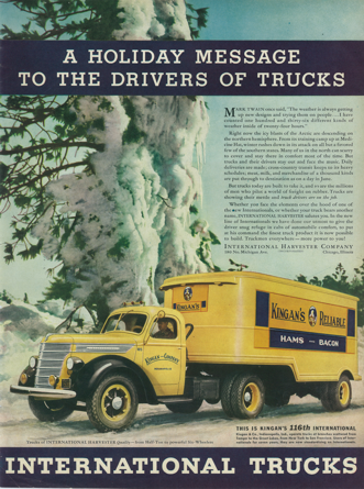 Vintage Poster-International Trucks-Kingan's Reliable
