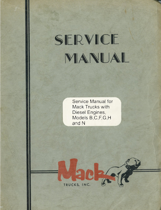 Mack Service Manual for Models B, C, G, H, L, M, N and MB with 864 V8