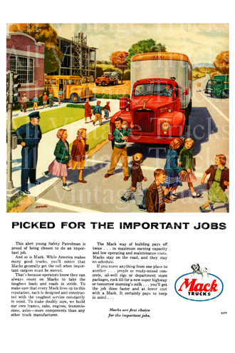 Vintage Poster-Macks-Picked For The Important Jobs