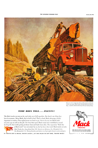 Vintage Poster-Mack Logs of Plenty
