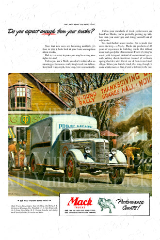 Mack Vintage Poster - Do You Expect Enough from Your Trucks