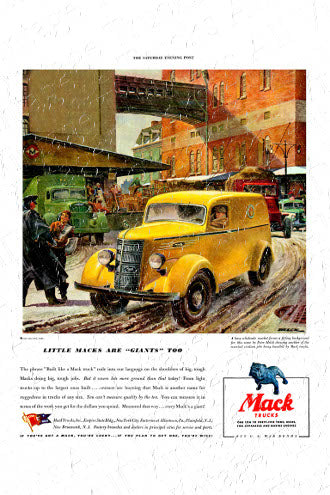 Mack Vintage Poster - Mack - Little Macks Are Giants Too