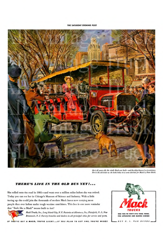 Vintage Poster-There's Life in the Old Bus Yet!