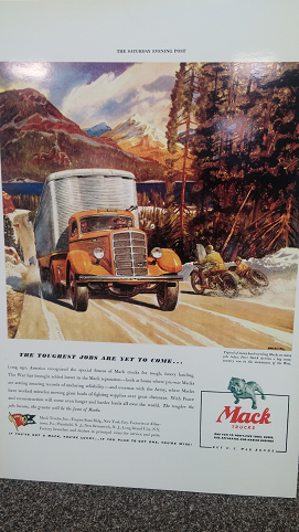 Mack Vintage Poster - The Toughest Jobs Are Yet to Come