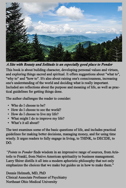 Points to Ponder Back Cover
