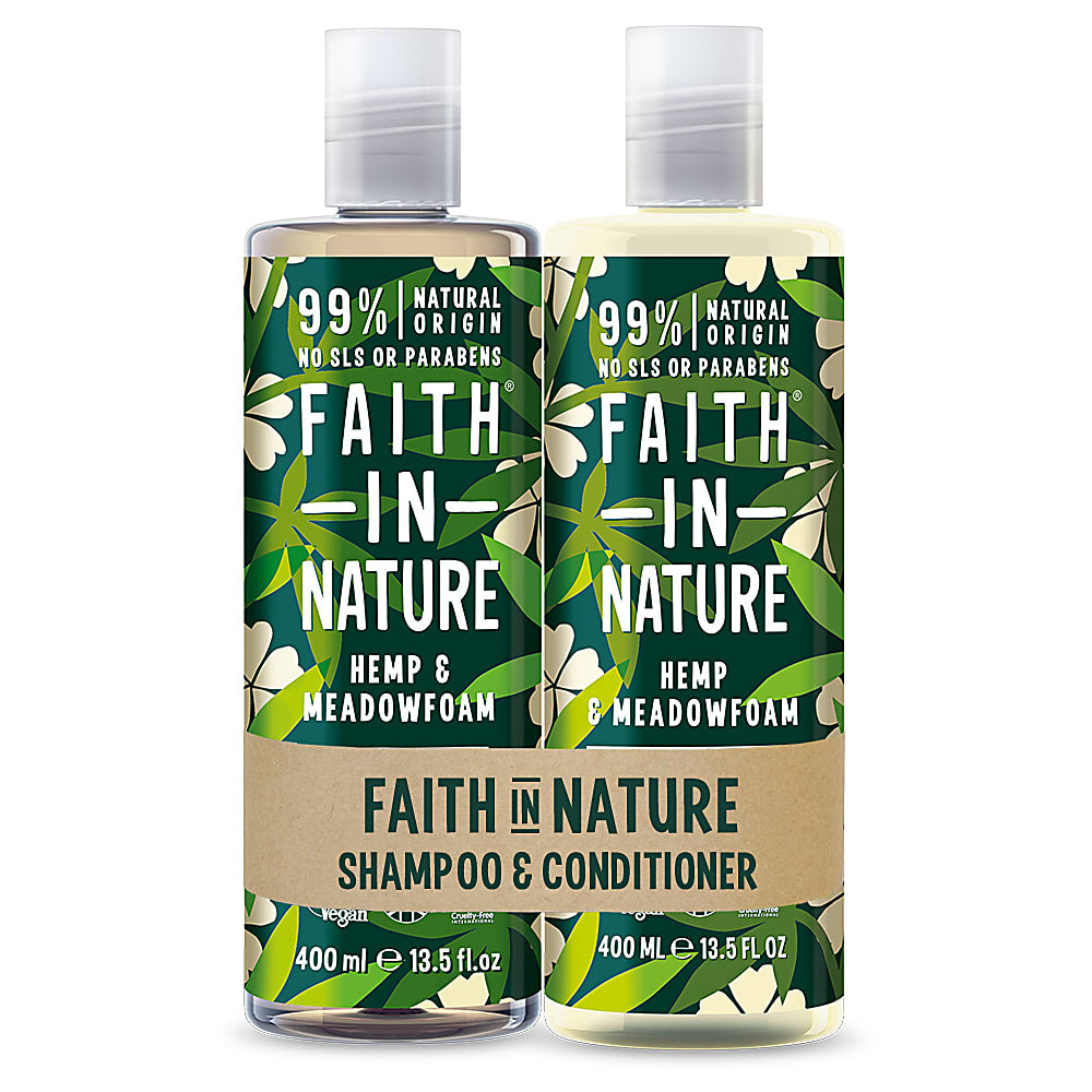 Faith in Nature Hemp & Meadowfoam Banded Shampoo & Conditioner