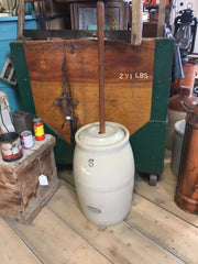 Medalta Potteries 6 gallon Butter churn with lid and dasher