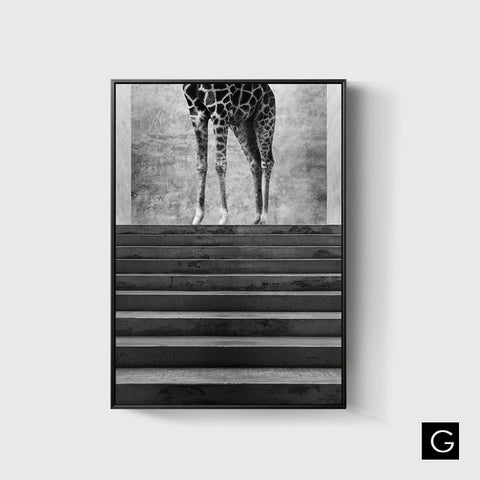 The Giraffe Ink Print