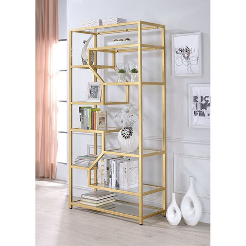 Fillmore Bookshelf - Brass