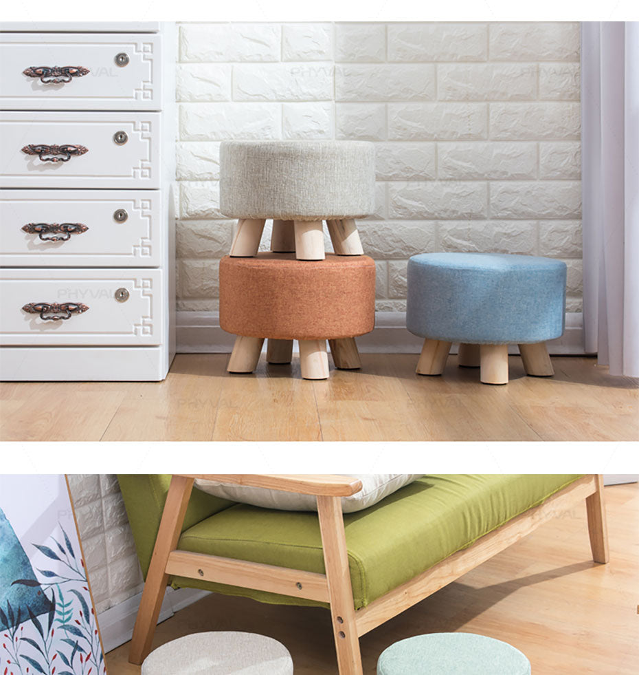 Modern Luxury Upholstered Footstool - Urban Factorie